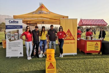 Sponsorship of a local football tournament organized by Easy, a major DIY distributor, and attended by their contractors and end-users