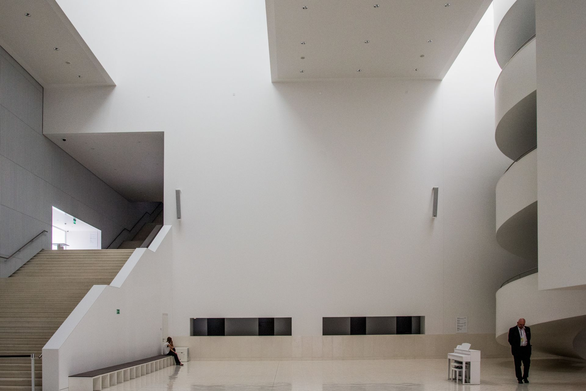 White interior of Szczecin Philharmonic Hall in Poland