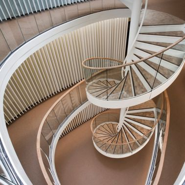 Staircase in office of Kjorbo powerhouse in Norway