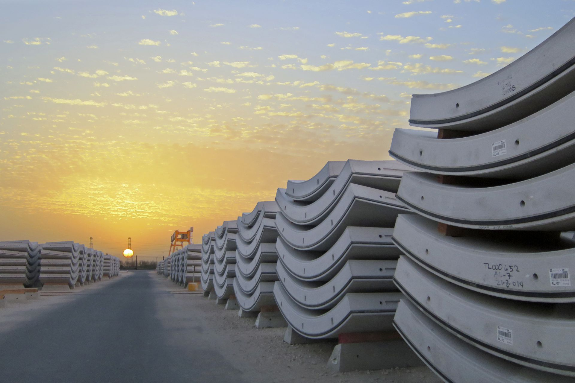 Prefabricated tunnel segments produced with Sika precast concrete admixtures