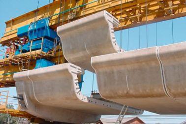 Precast concrete bridge  elements