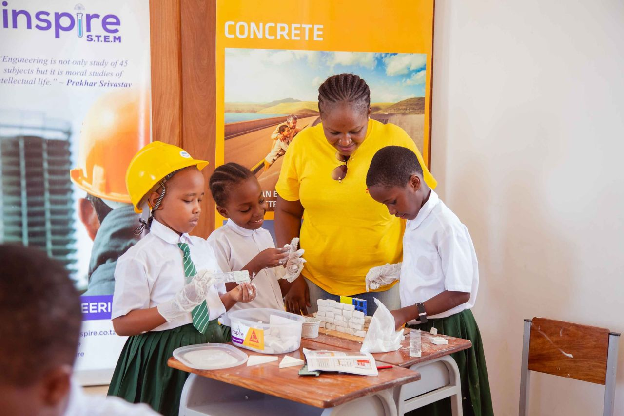 Sika Tanzania volunteering for a school project