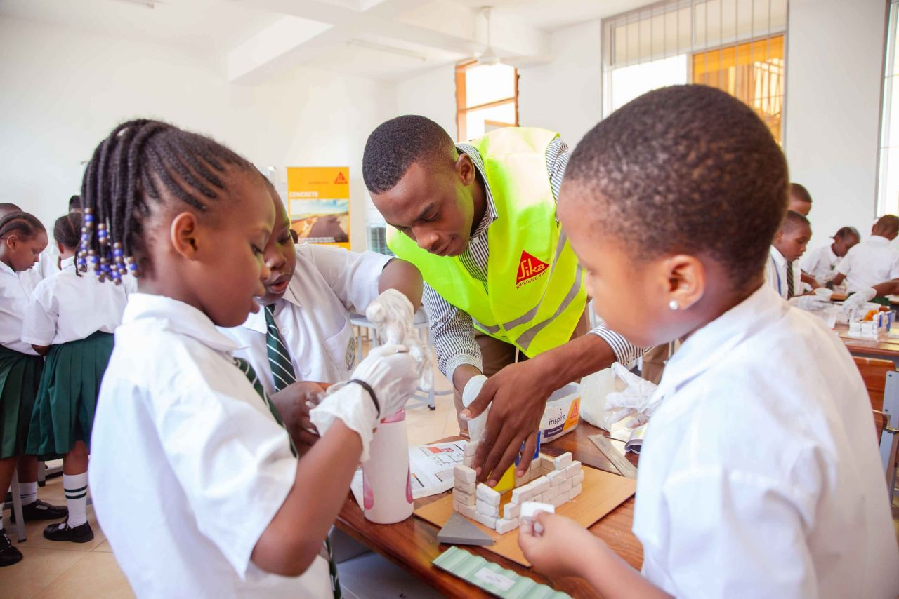 "Sika Tanzania is supporting ""ProjeKt Inspire"", an initiative aiming at opening career options to younger generations"