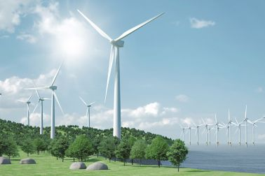Onshore- und Offshore-Windpark