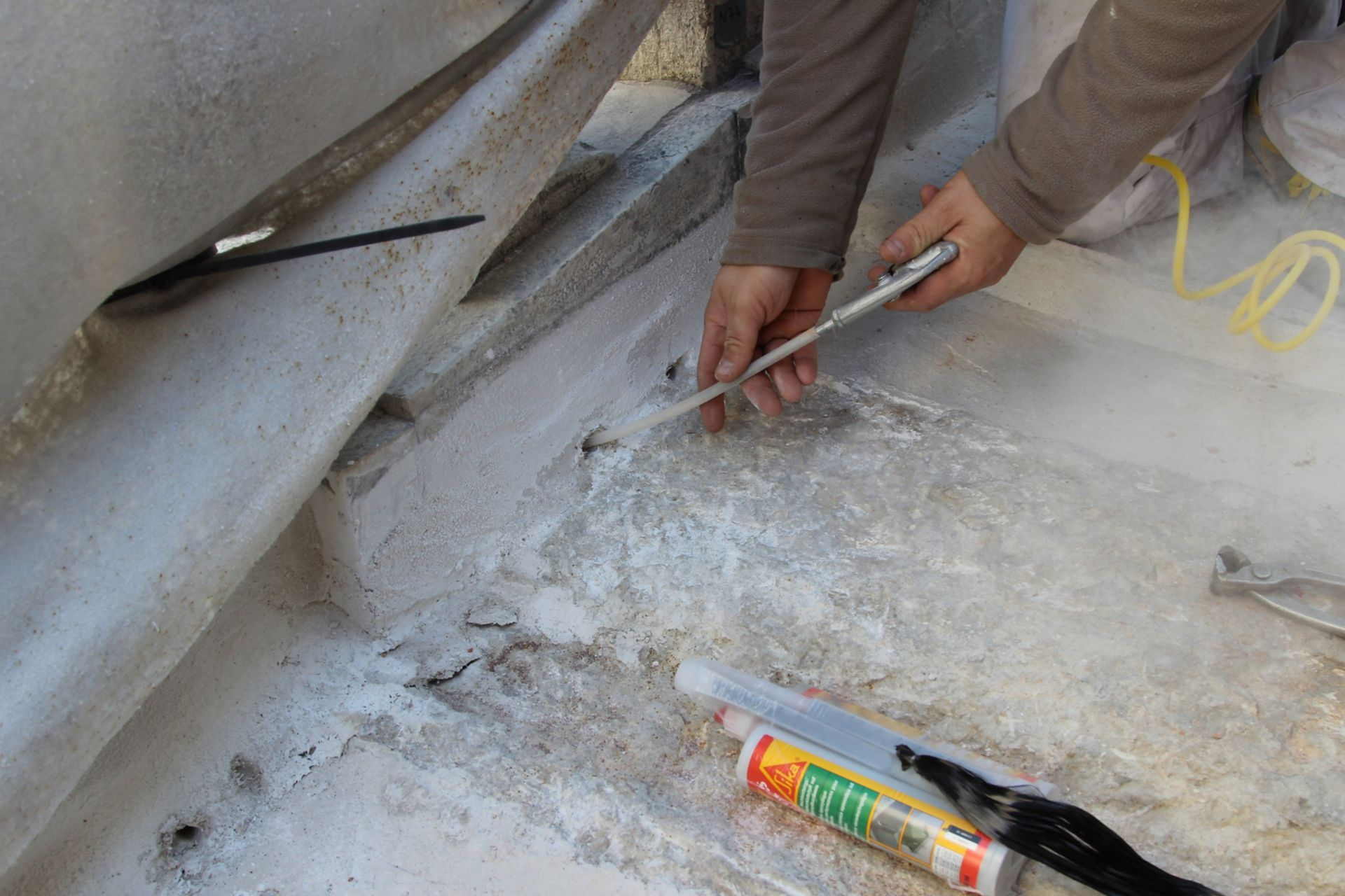Repair of Rialto Bridge in Venice Italy with Sika products