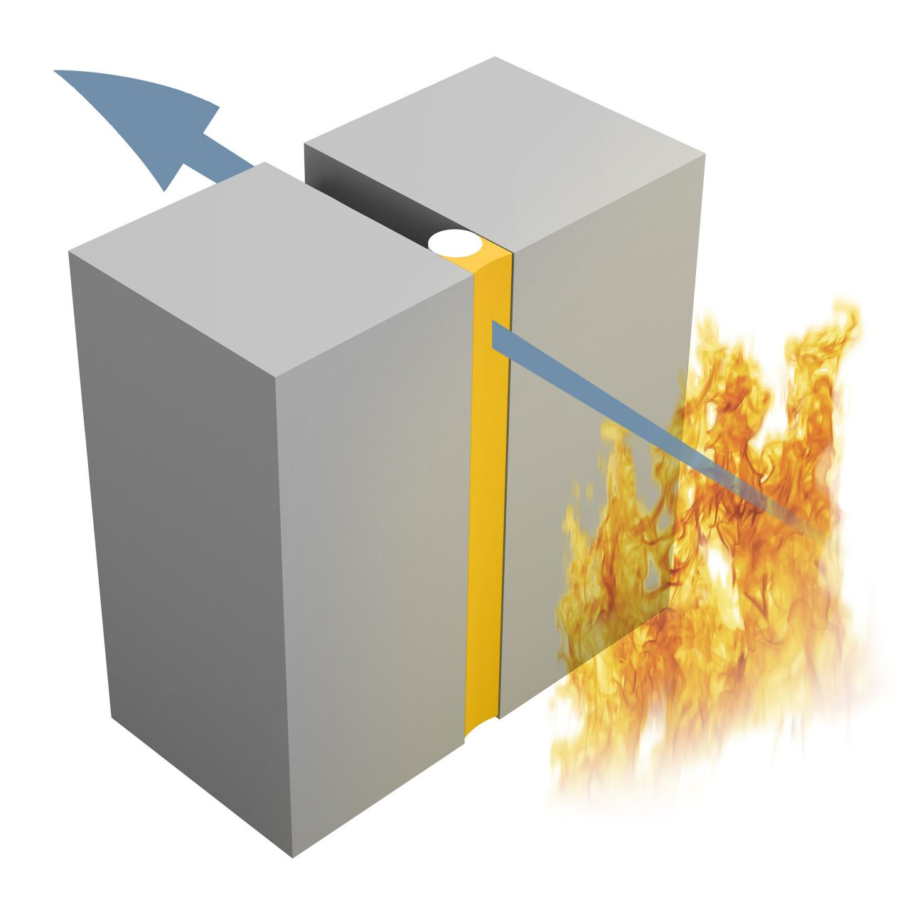 Fire resistance illustration of Insulation (I)
