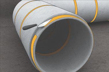 Rigid bonding of precast concrete elements with Sikadur repair mortar and adhesive