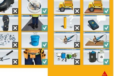 Sika roof protection concept poster with illustrations