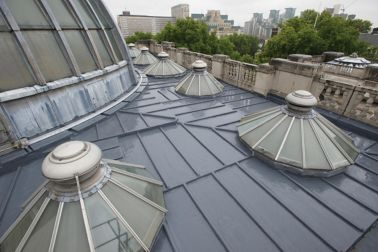 Refurbished roof of the Tate Britain Museum in London