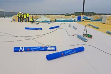 Applying Sika Sarnafil waterproofing membrane on all roofing areas on Volkswagen Plant in Wrzesnia