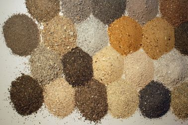 Many various types of sand are used for concrete formulation