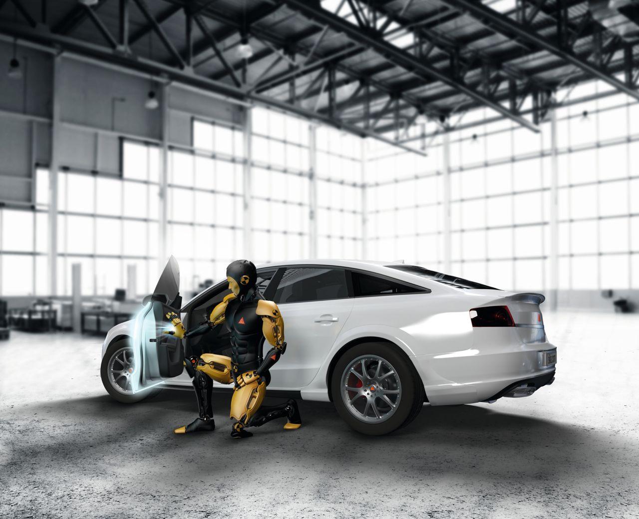 Car crash dummy highlighting sealing applications on a car