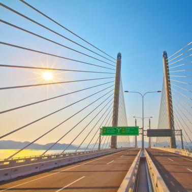 Second Penang Bridge in Malaysia