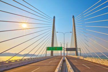 马来西亚的第二个槟城桥梁