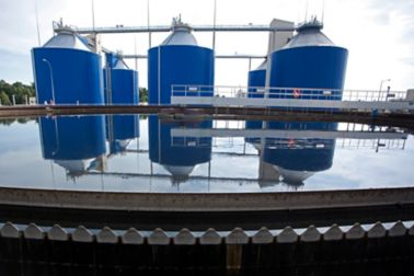 Waste water treatment plant in Wroclaw in Poland