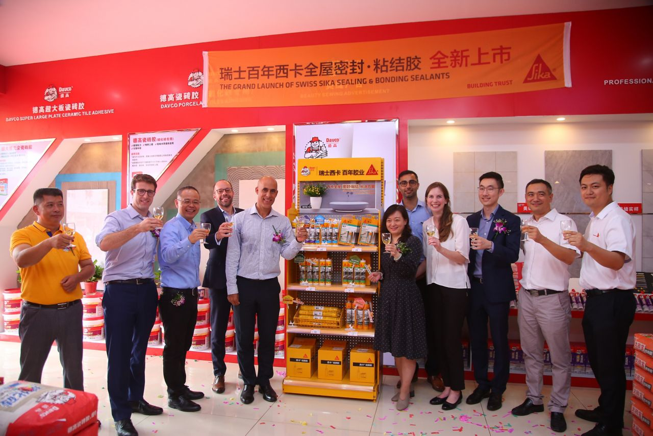 First shop-in-shop unit in a Davco store in China