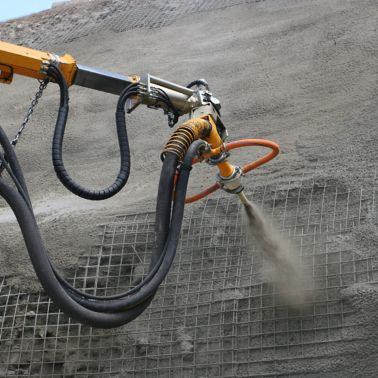 Application of Shotcrete with Sigunit accelerator