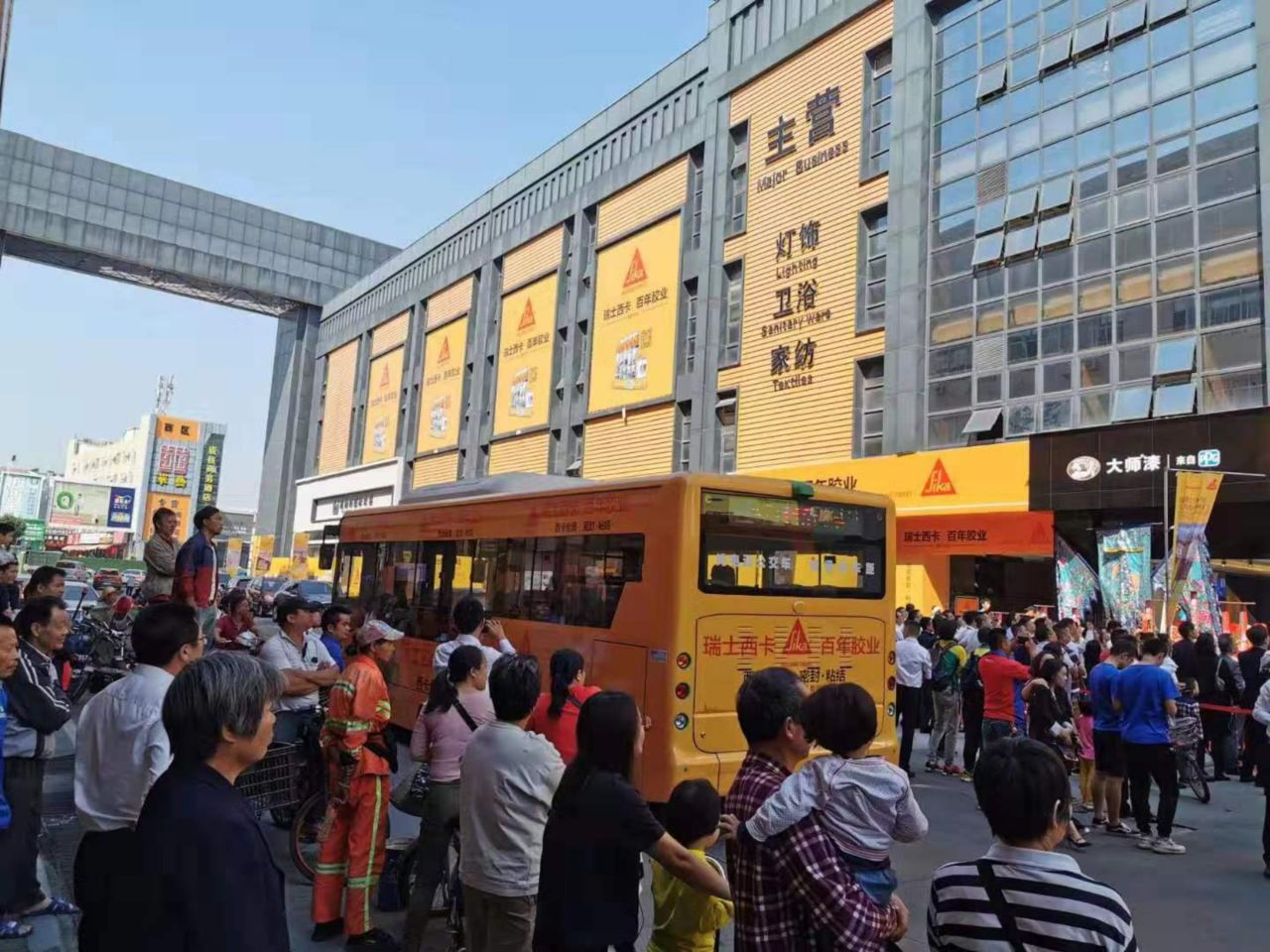 Sika branded bus in China