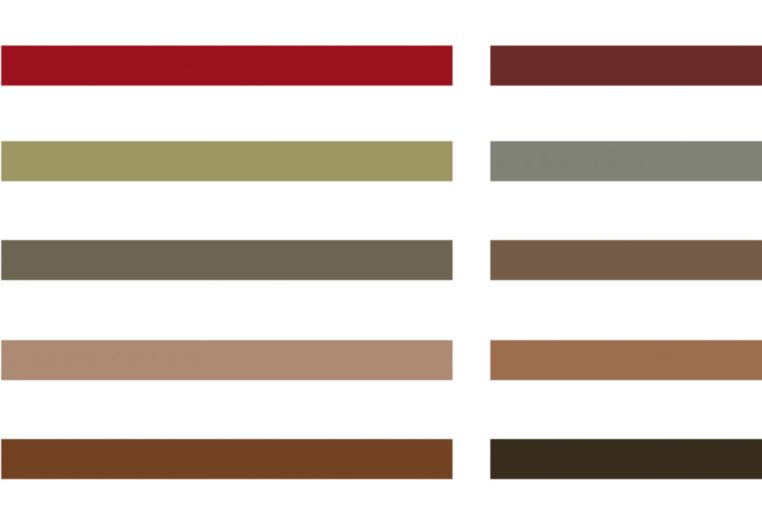 Sika ComfortFloor® color swatch for resin floor in red and brown shades