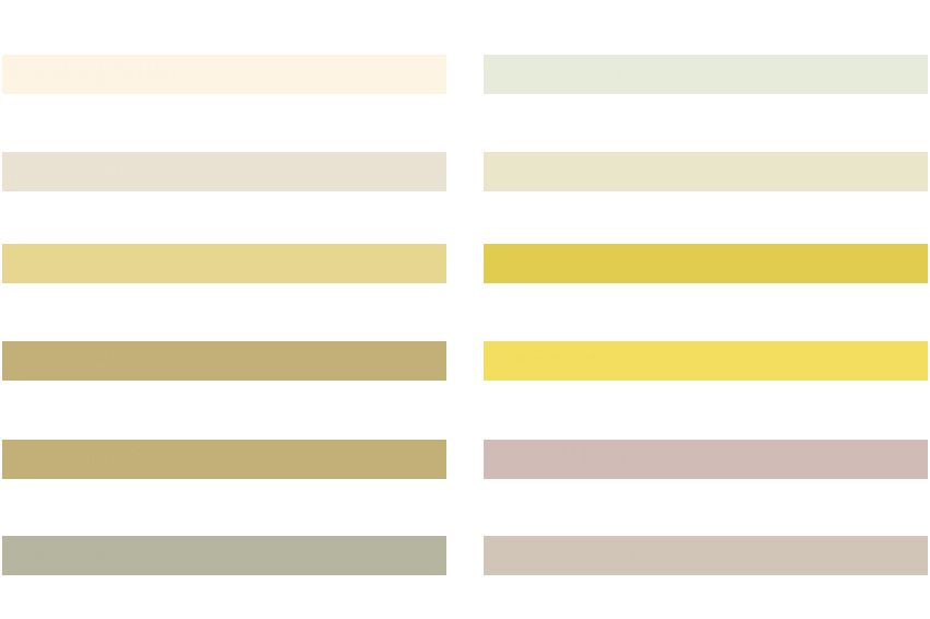 Sika ComfortFloor® color swatch for resin floor in white, beige and yellow shades