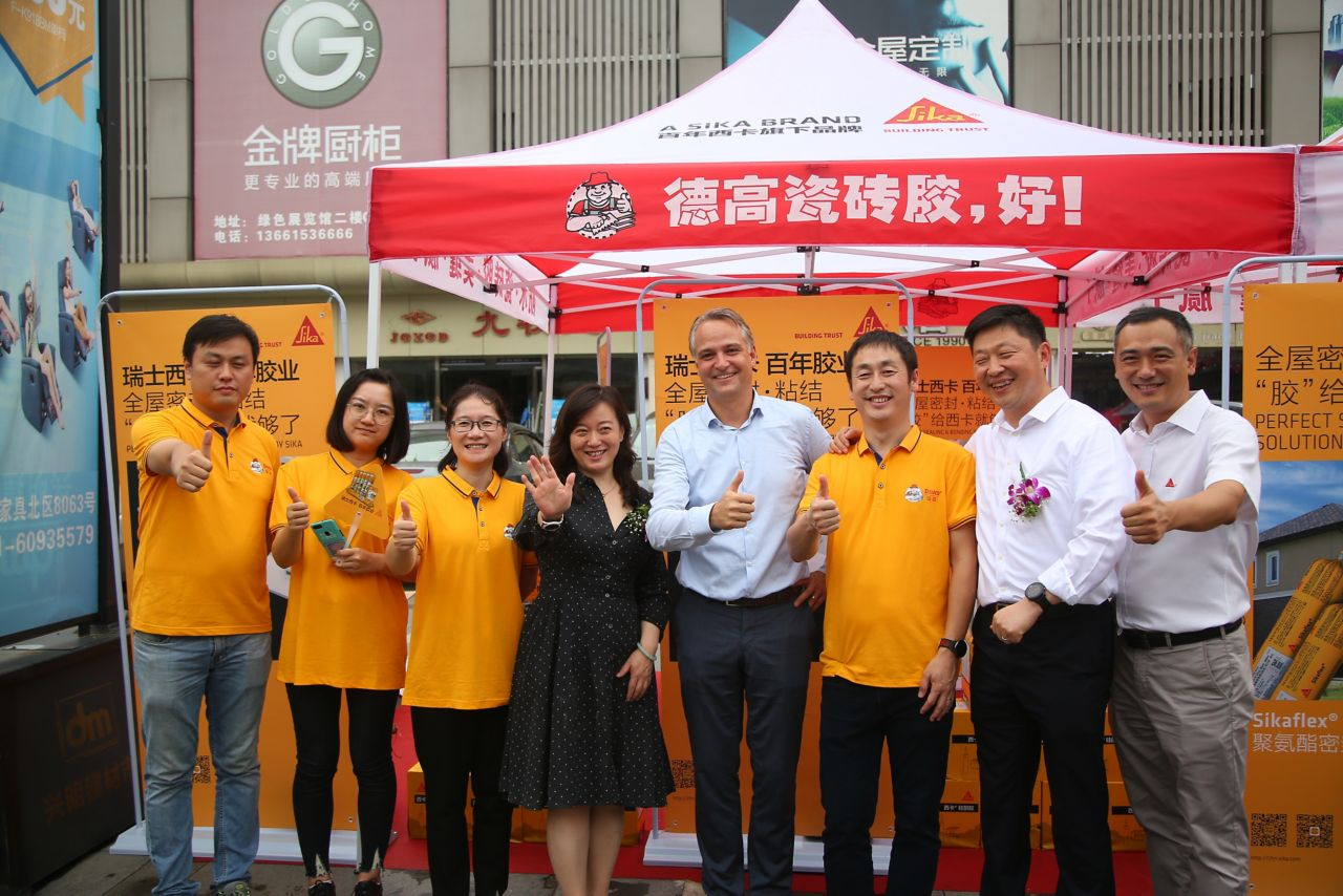 Sika Davco team in China with Philippe Jost