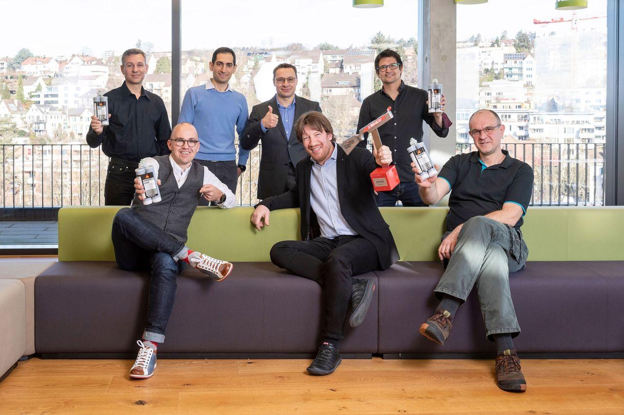 Winners of Swiss Technology Award SikaForce® Powerflex team