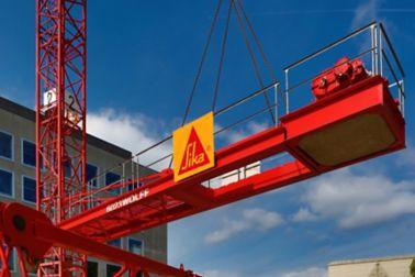Sika logo on a crane