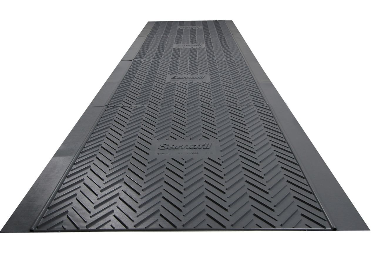 Sika Sarnafil roof walkway pads for roof protection on utility roofs and maintenance access