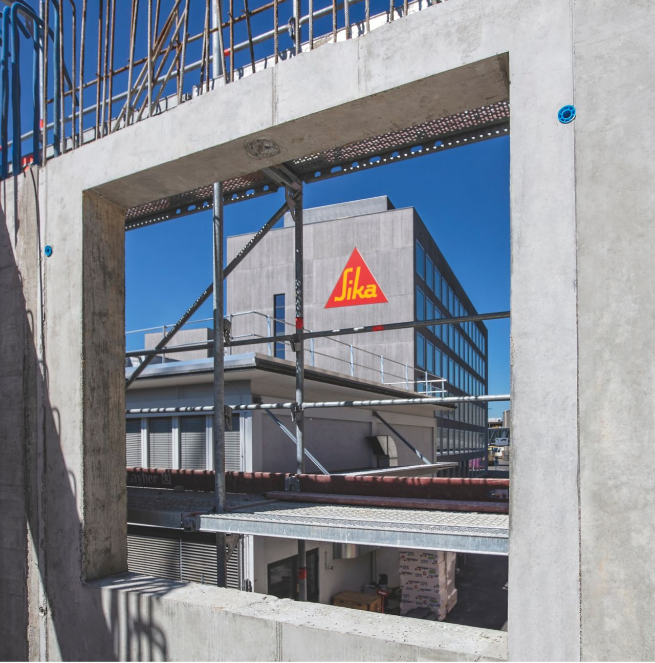 Sika® Separol® formwork release agent on concrete on Sika construction site removed from formwork