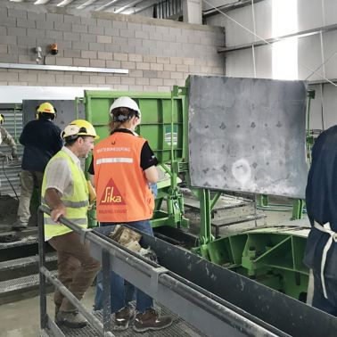 Workers at the construction of Tunnel Arroyo - Vega in Argentina