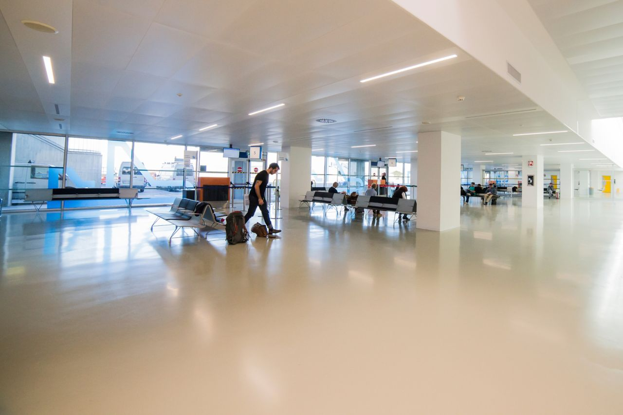 Sika Comfortfloor system at Trieste Airport Italy