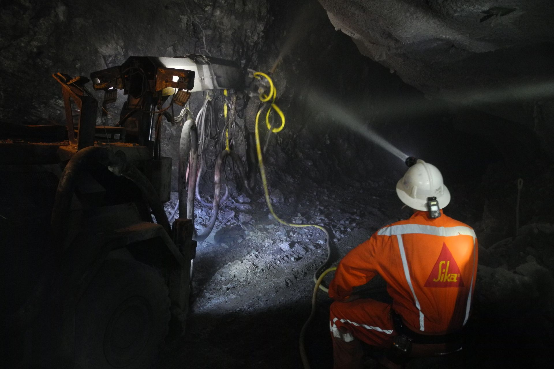Construction workers in a silver mine in the Meixcan Heartland
