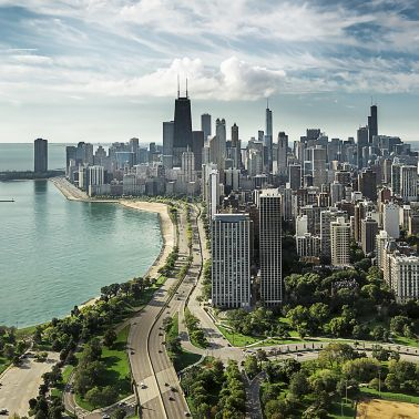 Skyline of Chicago, USA