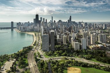 Skyline of Chicago, USA