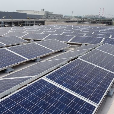 Sika SolarMount-1 on solar roof installed in east-west configuration in Singapore