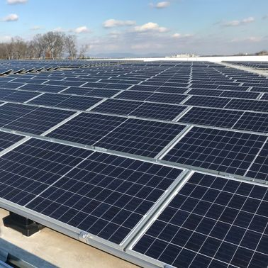 Sika SolarMount-1 on solar roof installed in south configuration in Frederick