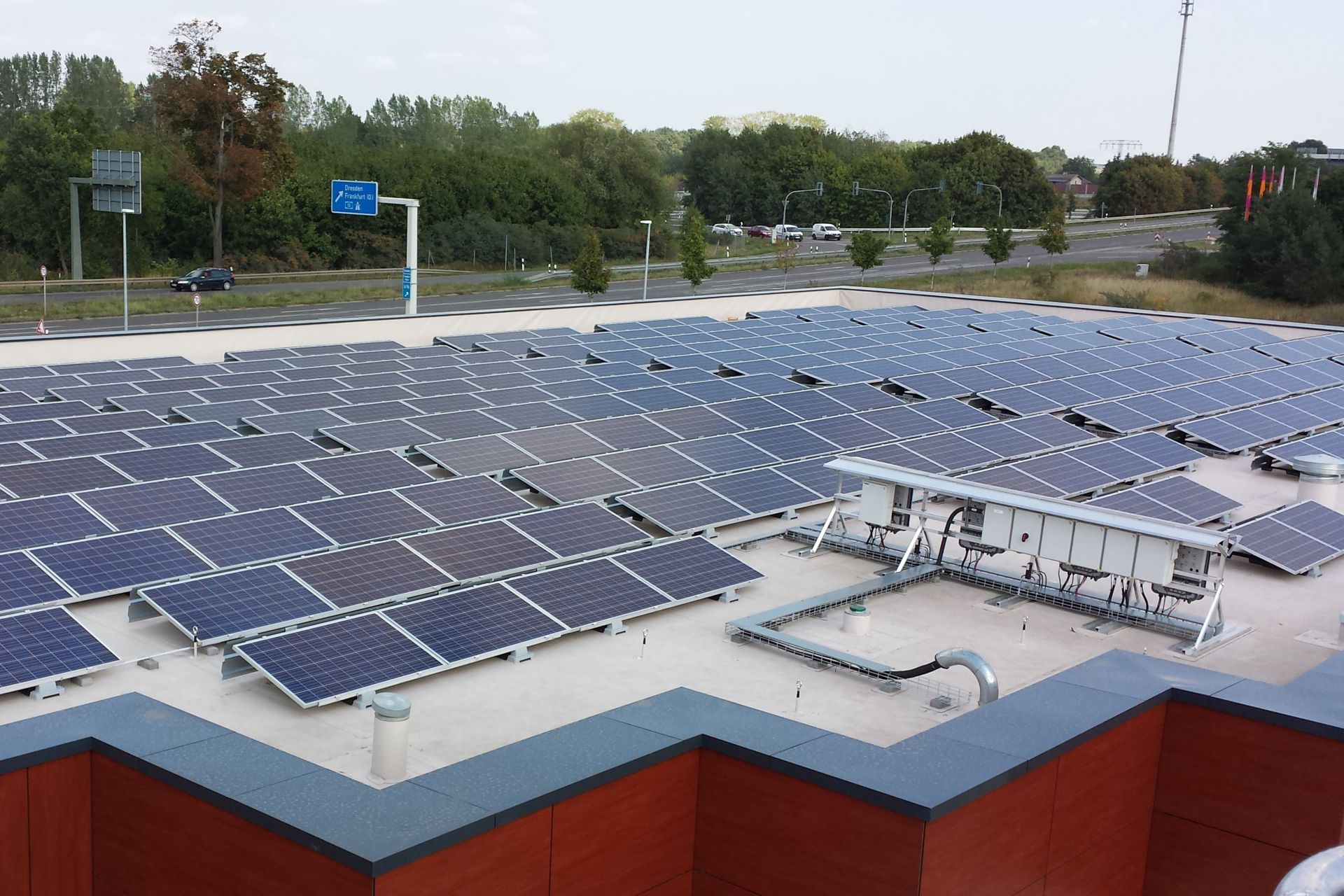Sika SolarMount-1 on solar roof installed in south configuration in Fredersdorf, Germany