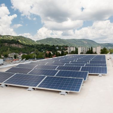 Sika SolarMount-1 on solar roof installed in south configuration in Graz, Austria
