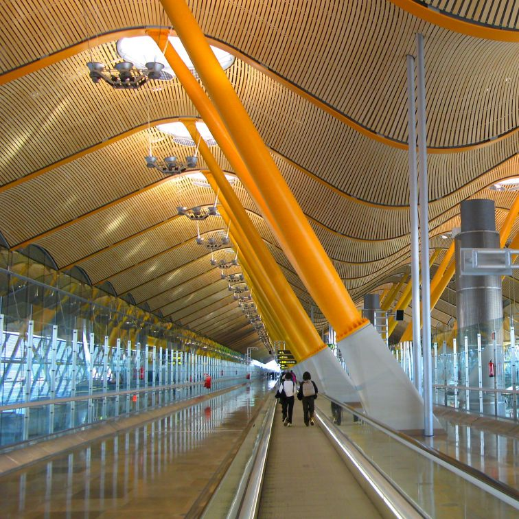 Barajas Airport in Madrid, Spain