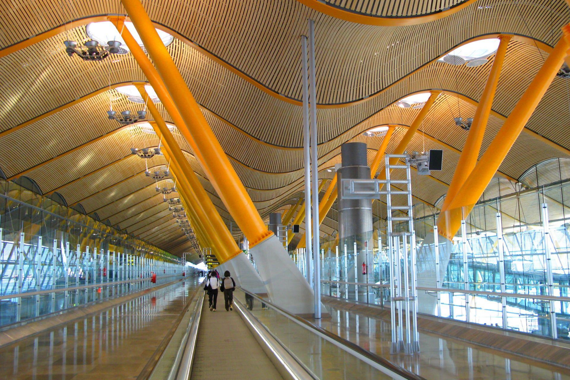 Barajas Airport in Madrid, Spain