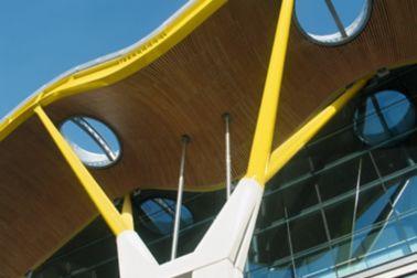 Facade of Barajas Airport in Madrid, Spain