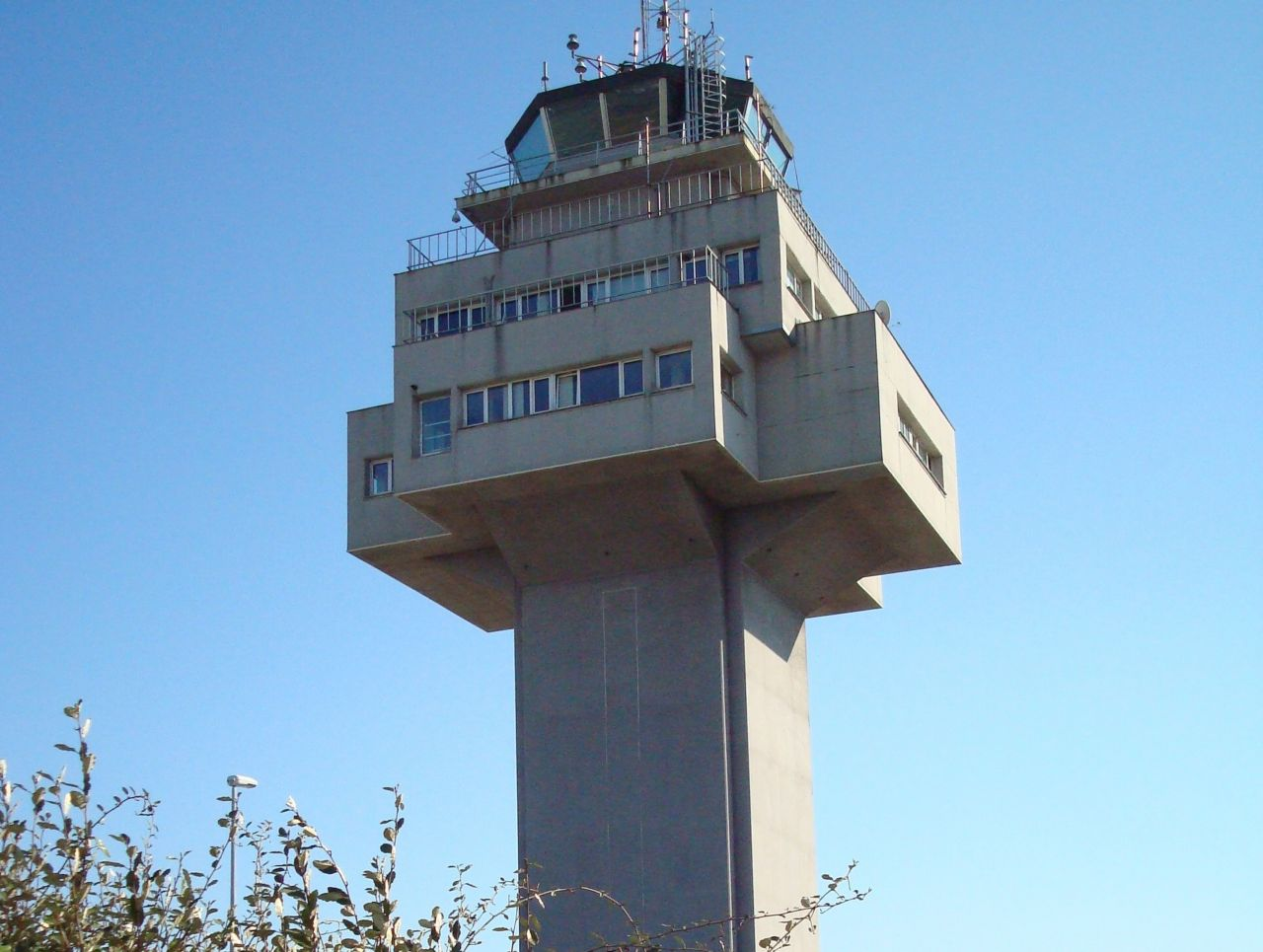 Control tower in Santander Airport