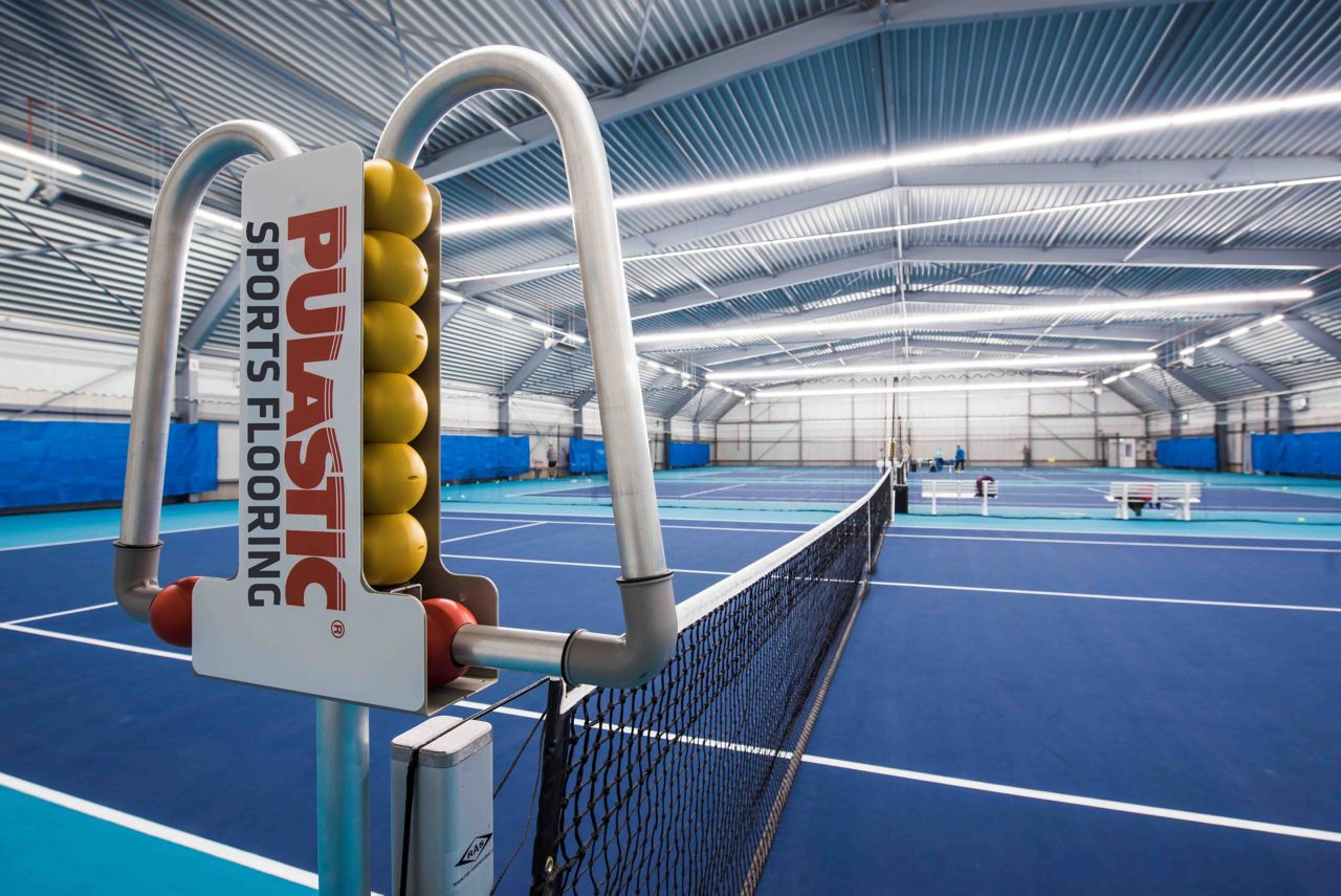 Indoor tennis floor by Sika