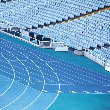 Sport floor on outdoor court