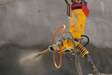Sika Aliva machine spraying concrete shotcrete