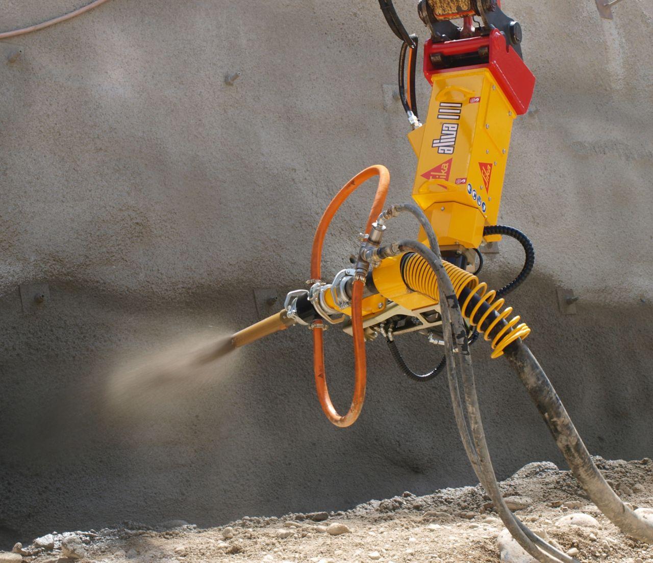 Sika Aliva machine spraying concrete shotcrete
