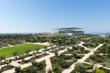 The green areas at the Stavros Niarchos Park in Greece