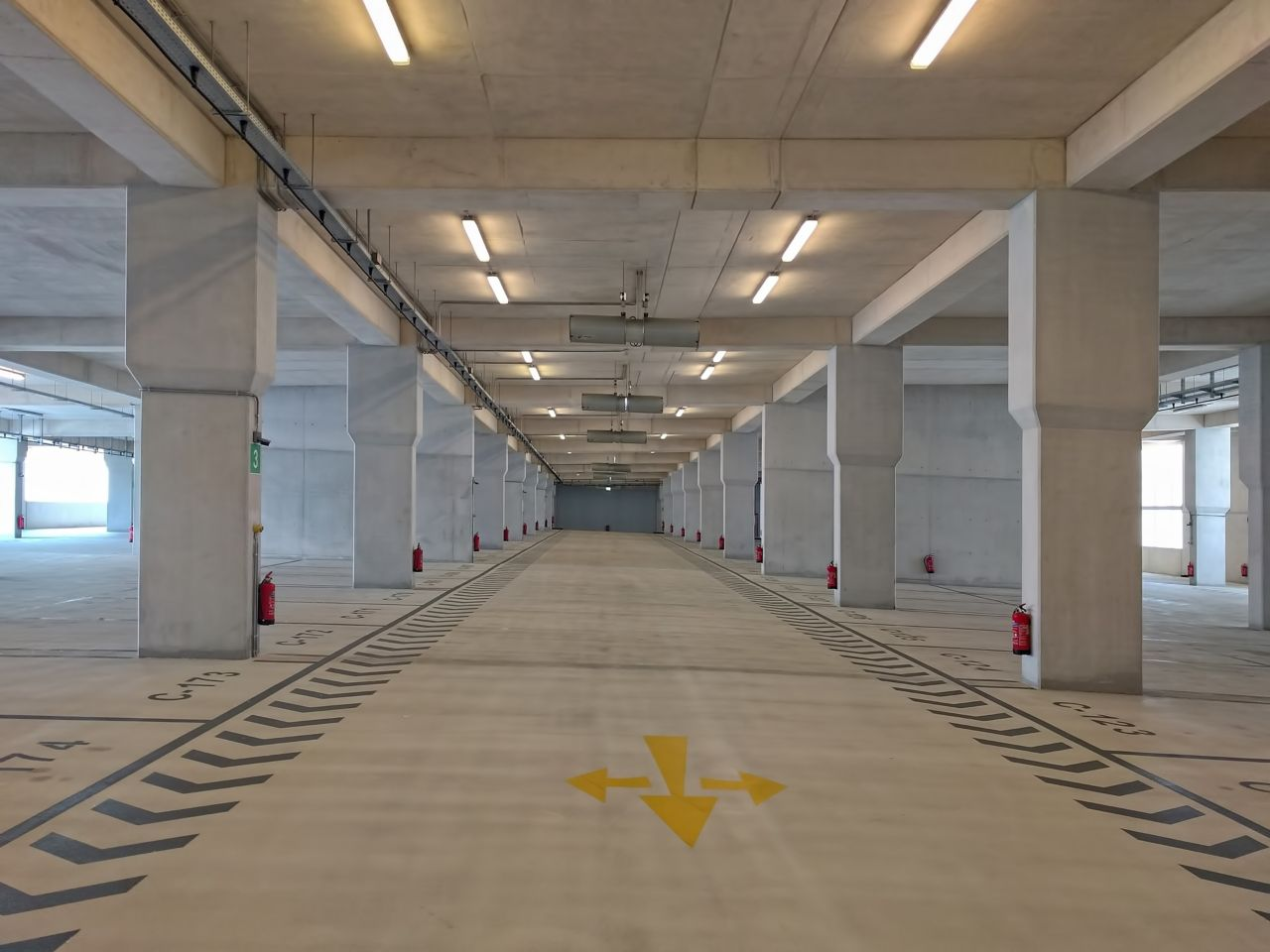 Car parking garage floor of the Stavros Niarchos Foundation Cultural Center