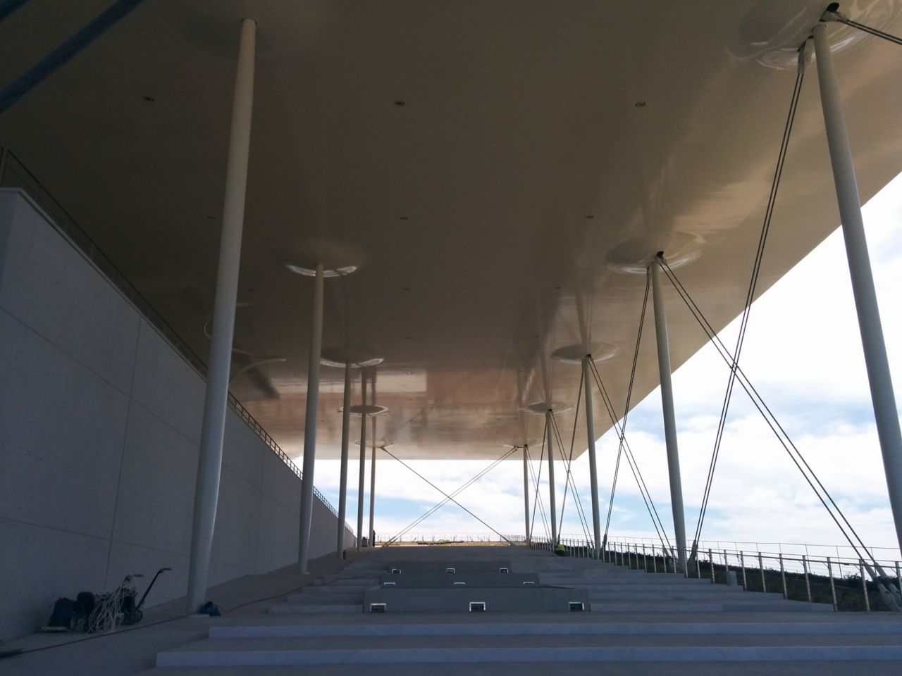 Ferrocement canopy construction at the Stavros Niarchos Foundation Cultural Center