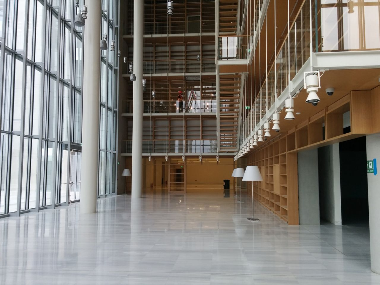 National Library of Greece lobby at the Stavros Niarchos Foundation Cultural Center